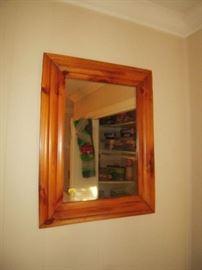 vintage pine mirror