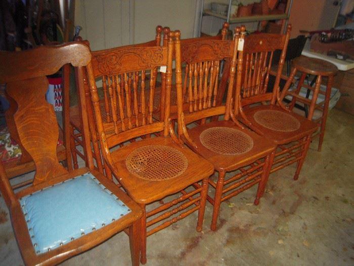 oak chairs
