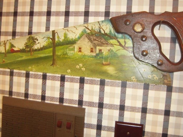 handpainted saw