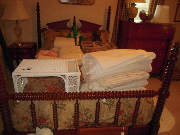 davis cabinet  CUMBERLAND VALLEY cherry bed part of suite