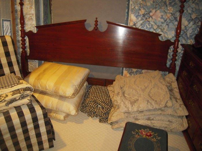 King size walnut bed