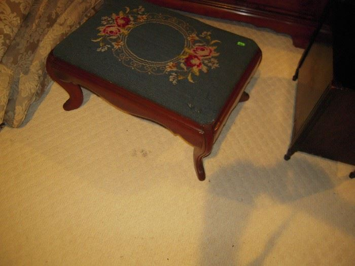 nice needlepoint stool