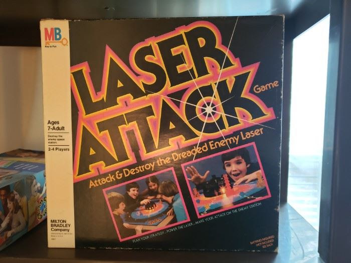 Vintage Milton Bradley Laser Attack board game