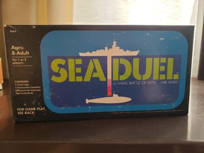 Vintage Milton Bradley Sea Duel for Microvision