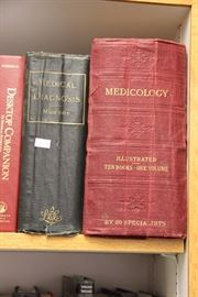 Many medical reference books.