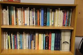 Books on spirituality and philosophy.