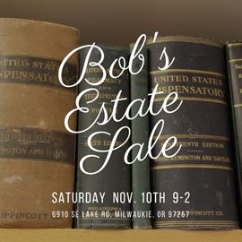 We are having an estate sale that includes Dr. Robert Sklovsky's Naturopathic practice and home items. Lots of books, music, videos, supplements and so much more!