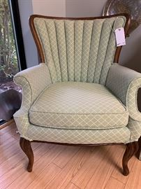 Beautiful Channel Back Chairs.  We have a pair.