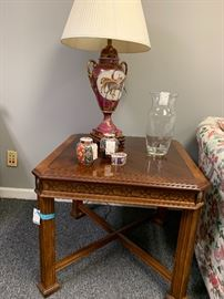 Beautiful Side Table.  We actually have a great sofa table that would pair up nicely together.