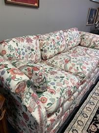 Floral Hickory Chair Sofa.  Beautiful and heavy.
