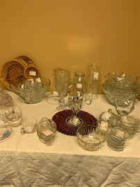 Tons of beautiful glassware.