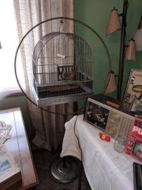 Vintage hanging bird cage.