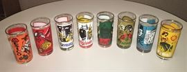 "Complete Set Of 8 1960's Vintage ""Around The World"" Coca~Cola Glasses"