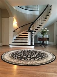 "Gorgeous and classic round, 7'-10"" Karastan Premium New Zealand Wool Rug accented with genuine silk from its Persian Renaissance Collection. Made in Belgium. Retail $1560.  Like new and tags are on rug. Your price is $1000."