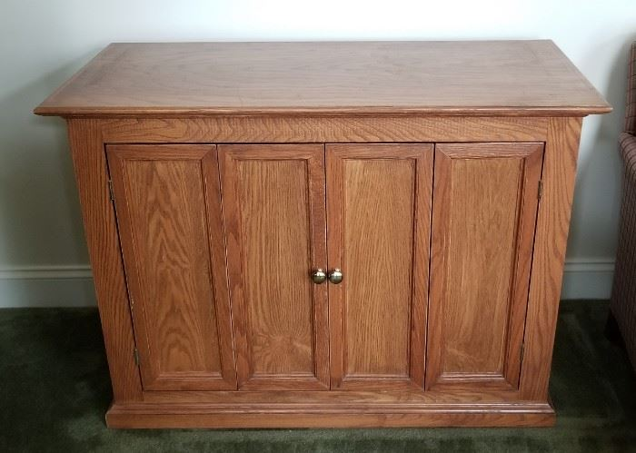 """TV stand, measures 41""""L x 19""""W x 36""""H"""