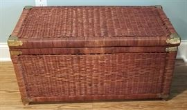 "Wicker storage chest in excellent condition! Measures 31""L x 16""W x 16"" H"