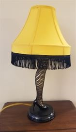 "Christmas Story Leg Lamp, about 16"" high. We also have original box."