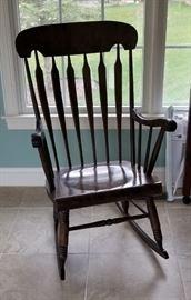 Dark wood rocking chair, beautiful!