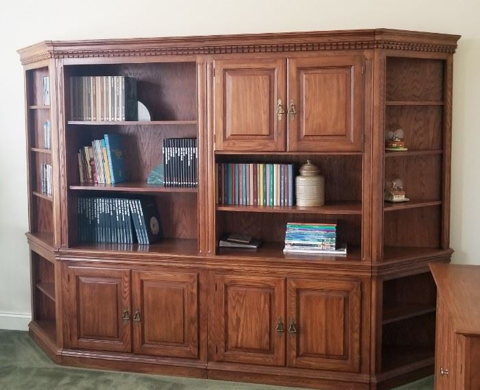 """Beautiful office shelving unit in excellent condition, measures 78"""" x 114"""" x 19"""""""