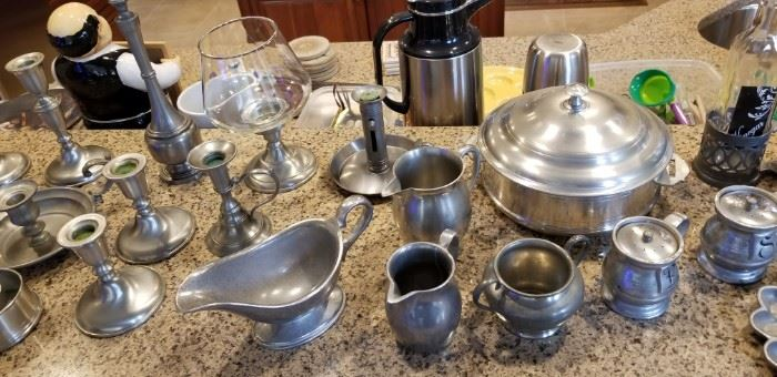 Wonderful collection of antique and vintage pewter pieces