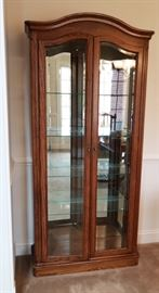 """China curio cabinet in perfect condition, this is a stunning piece! Measures 72"""" x 34"""" x 15"""""""