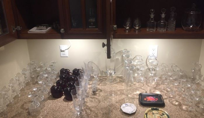 Not your average glassware! Cool glasses perfect for any party, and crystal wine goblets priced to sell!