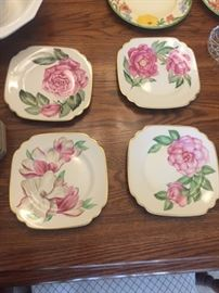Onondaga Pottery flower plates with original box and receipt from 1949!