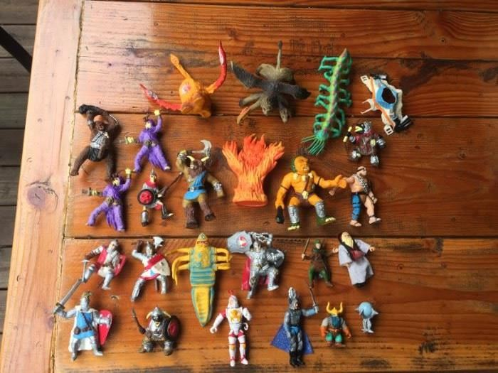 Vintage Advanced Dungeons and Dragons Bendy toys