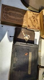 vintage scrap books with stamps
