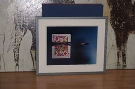 # 7 OF THE HAROLD EDGERTON COLLECTION CUTTING THE CARD QUICKLY 1964 MUESUM QUALITY FRAMMING