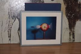 # 6 OF THE HAROLD EDGERTON COLLECTION BULLET PIERCING APPLE MUESUM QUALITY FRAMMING