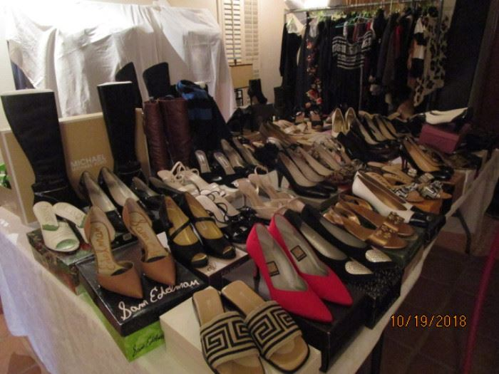 Some of these shoes may have been sold at last Sale.  At least half are available.  Will post updated photo on Wednesday.
