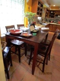 tall dining table w/ 6 chairs