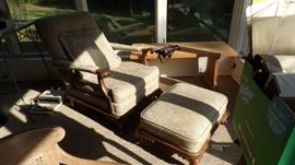 Grandfathers Chair / Ottoman (windows all around this room)