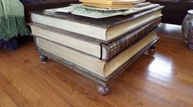 Large Book Coffee Table - each book  has a pull out drawer   (I love this thing, in case you're wondering)