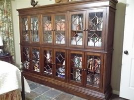 Beautiful lighted display case or bookcase (it is 2 pieces & can be taken apart for moving) and hundreds of books