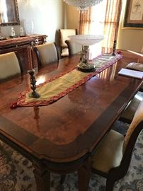 dining room set by Henredon table and 8 chairs