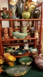 American art pottery including Roseville and Rookwood