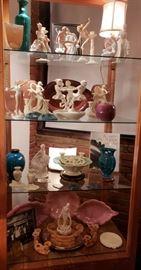 Gallery items, Cowan pottery, Lenox German porcelain Art Deco girls