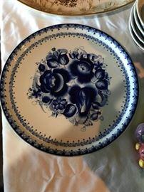 Signed Russian Flow Blue Platter