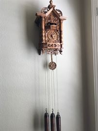 Beautiful Herr German Cuckoo Clock in Perfect Working Condition