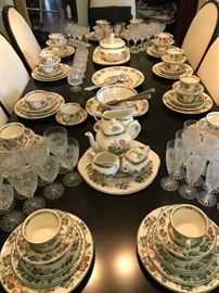 Staffordshire Orient Pattern Service for 12 Plus Serving Pieces