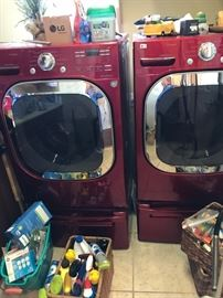 Fabulous 1 year Old LG Washer and Dryer- They no longer make red ones