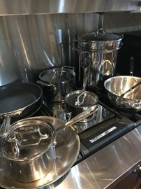 15 piece set of All-Clad Cookware- Best Money Can Buy