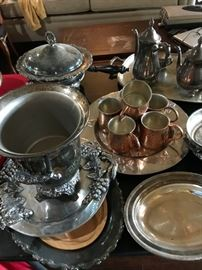 Silverplate and Copper and Pewter