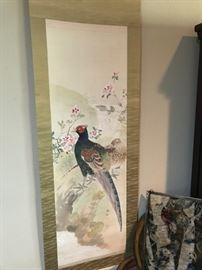 2nd Signed Chinese Scroll- Hand Painted of a Pheasant