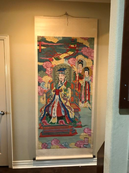 1 of 3 Antique Chinese Scrolls- All Hand Painted and Signed- WOW !!!