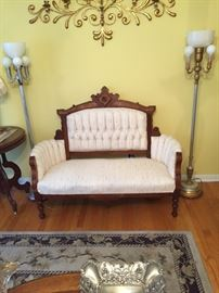 Antique Victorian Eastlake Sofa-restore