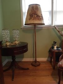 Vintage Maple wood   Floor Lamp