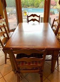 Farmhouse kitchen table & chairs